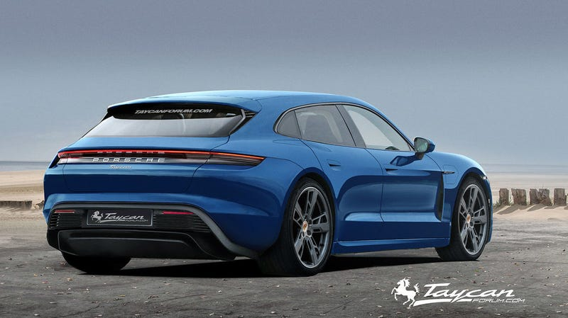 Illustration for article titled Here's What a Porsche Taycan Sport Turismo Could Look Like