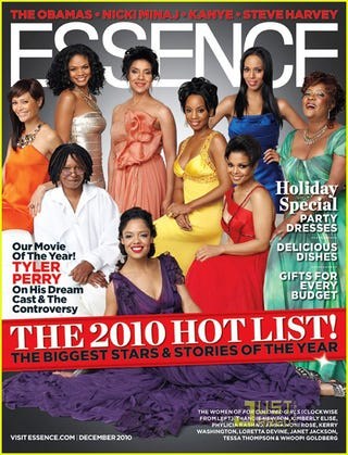 Illustration for article titled For Colored Girls Cast Forms A Beautiful Rainbow On Essence Cover