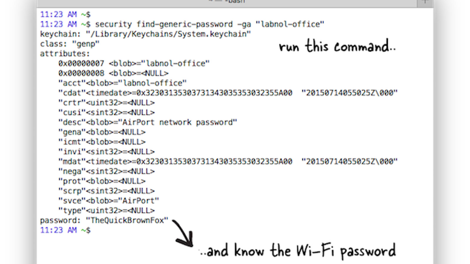 Find the Wi-Fi Password for Your Current Network with the