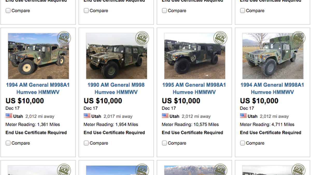Military Will Finally Sell You A Surplus Humvee Starting At 10000