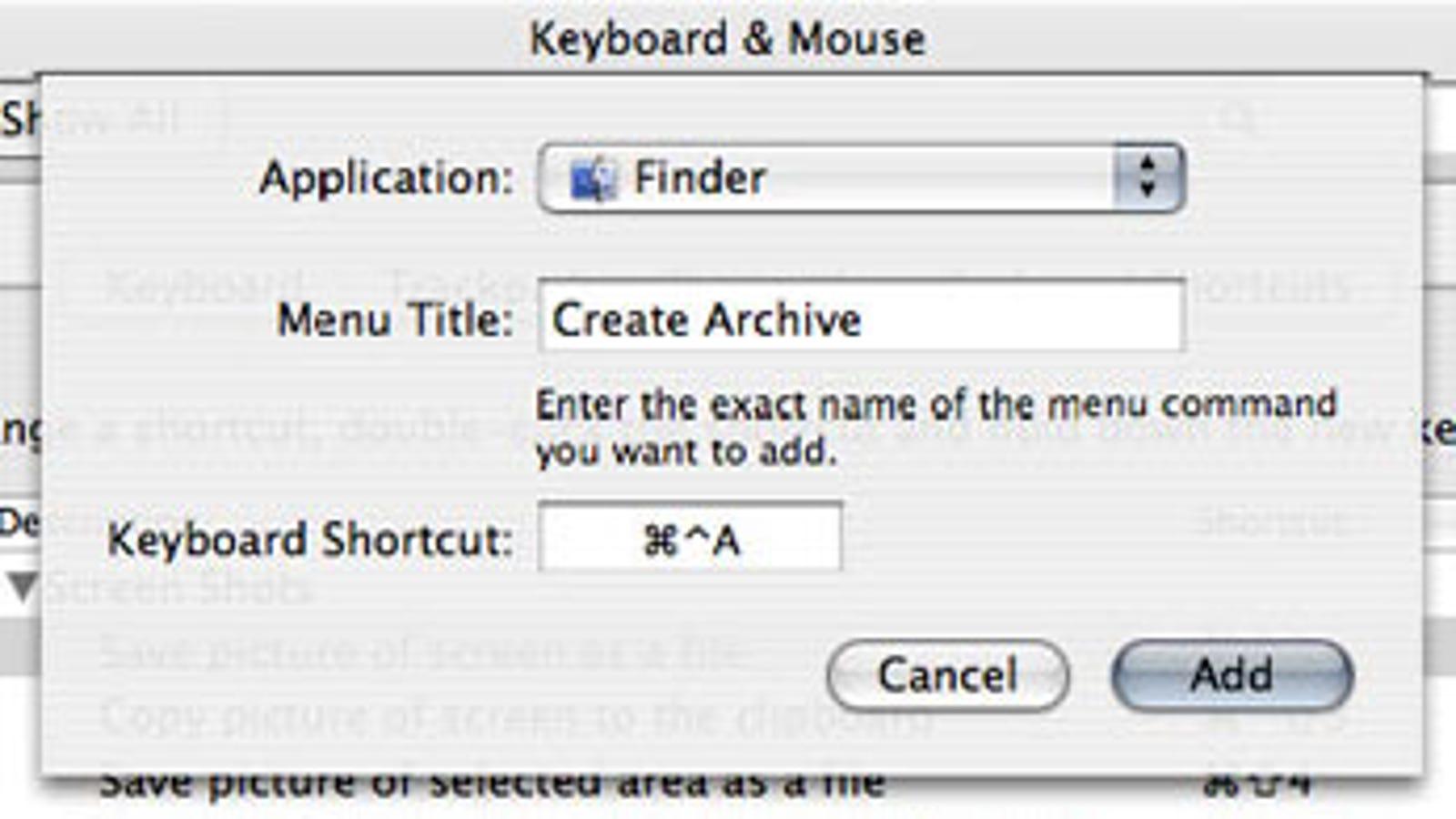 Mac Tip: Single keystroke zip archives