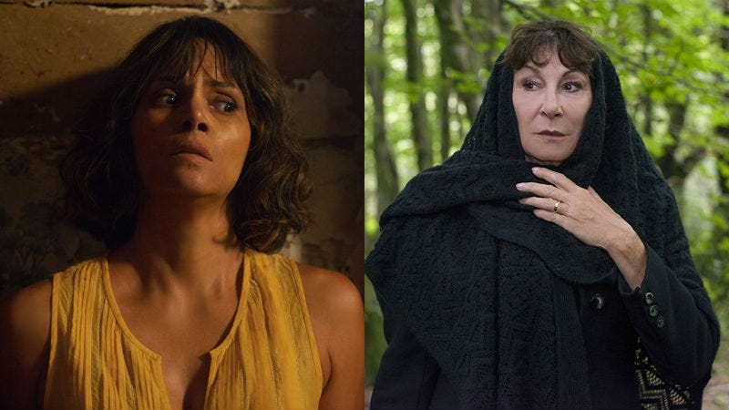 Halle Berry in Kidnap and Anjelica Huston from The Watcher in the Woods