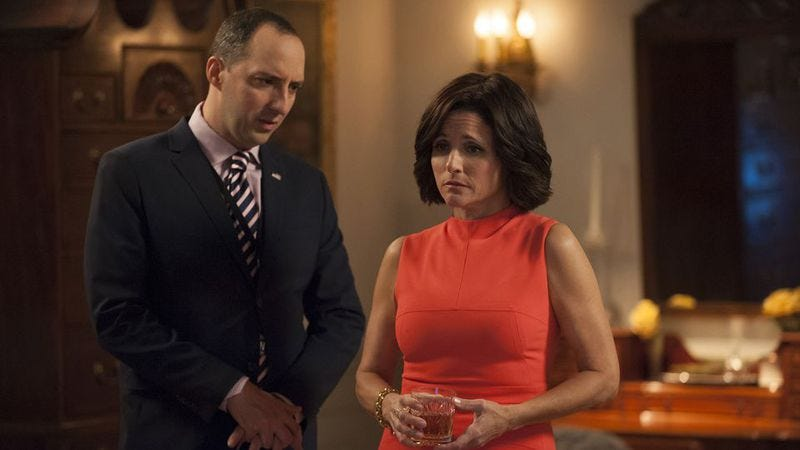 Tony Hale and Julia Louis-Dreyfus in Veep (Photo: HBO)