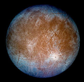 Illustration for article titled Scientists Say Jupiter's Moon Europa Might Be Teeming With Fish