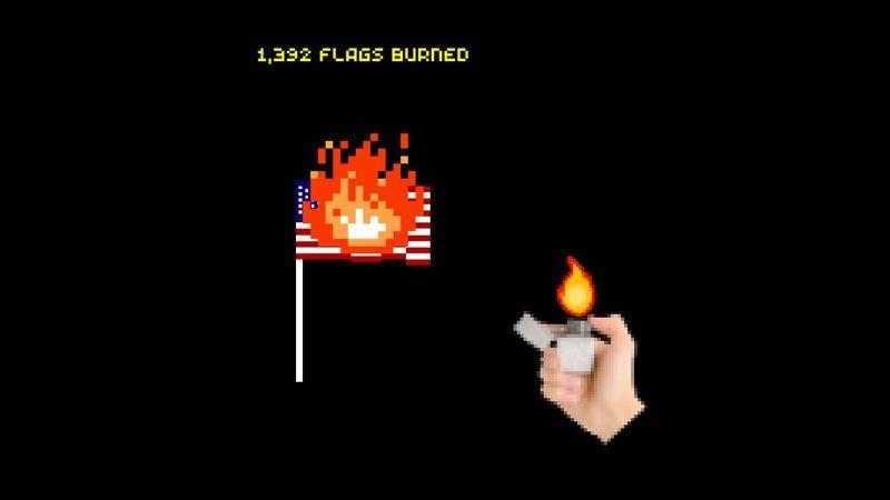 Burn The Flag (If You Want To) (Screenshot: burntheflag.us)
