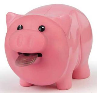 Illustration for article titled Motion-Sensing, Money-Eating Piggy Bank: A Haiku