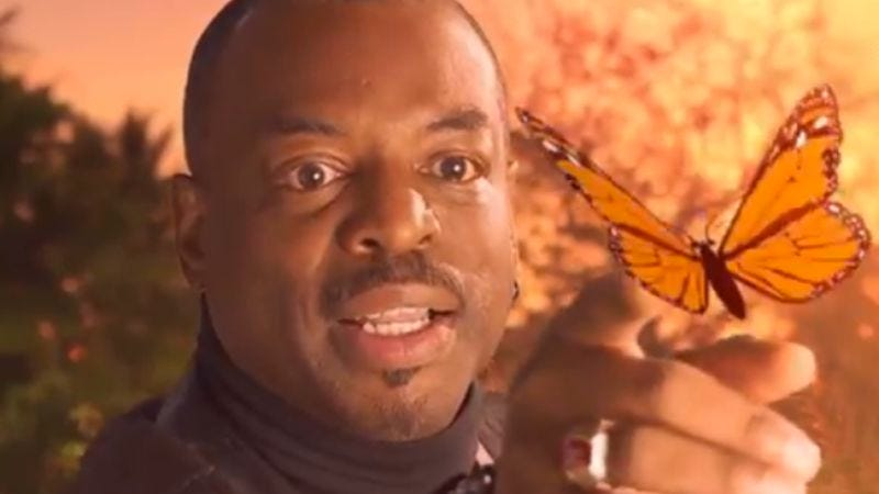 Illustration for article titled LeVar Burton explores Reading Rainbow's dark side in a new Funny Or Die clip