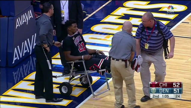 Jimmy Butler Carted Off Court After Sprained Knee, But Not Befo…