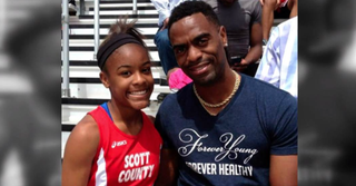 Trinity Gay and her father, Tyson GayNBC News Screenshot