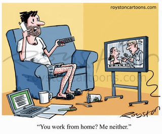 Illustration for article titled Working From Home Today