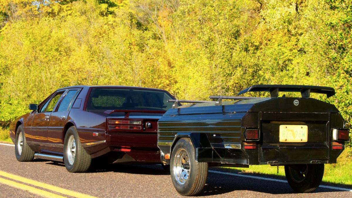 Evel Knievel Had An 8 Liter Aston Martin Lagonda And A Coffin Trailer