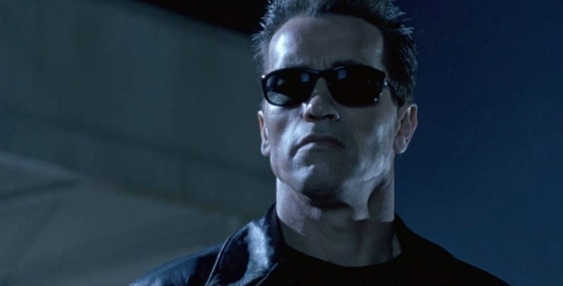 Arnold Schwarzenegger in Terminator 2: Judgment Day.