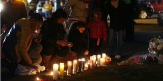 Mourners gather after the Sandy Hook Elementary shooting (Mario Tama/Getty Images News)