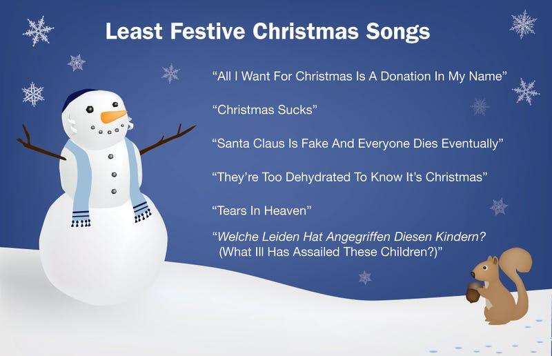 Illustration for article titled Least Festive Christmas Songs
