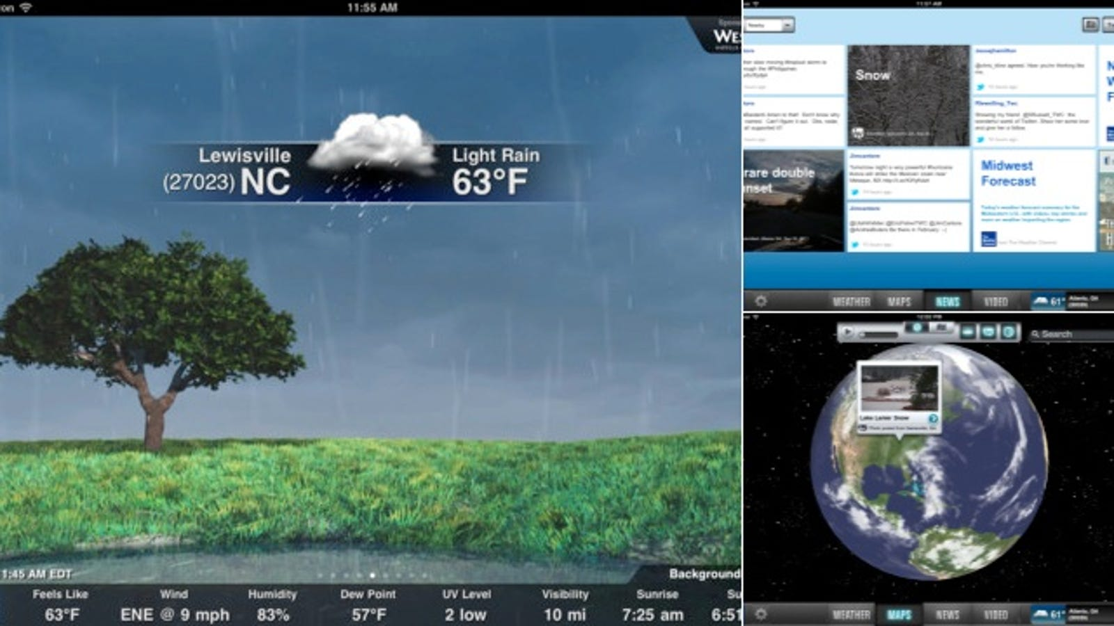 weather channel app for windows 7 not working