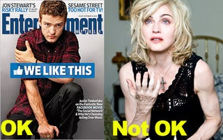 Illustration for article titled Timberlake's Veins, Unlike Madonna's, Are Just Fine For Publication