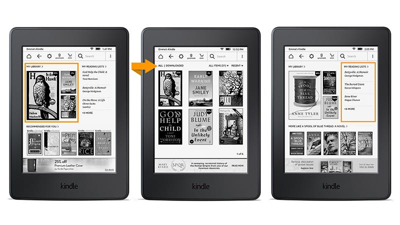 Illustration for article titled The Amazon Kindle Gets a Design Refresh with a New Home Screen, Better Access to Settings