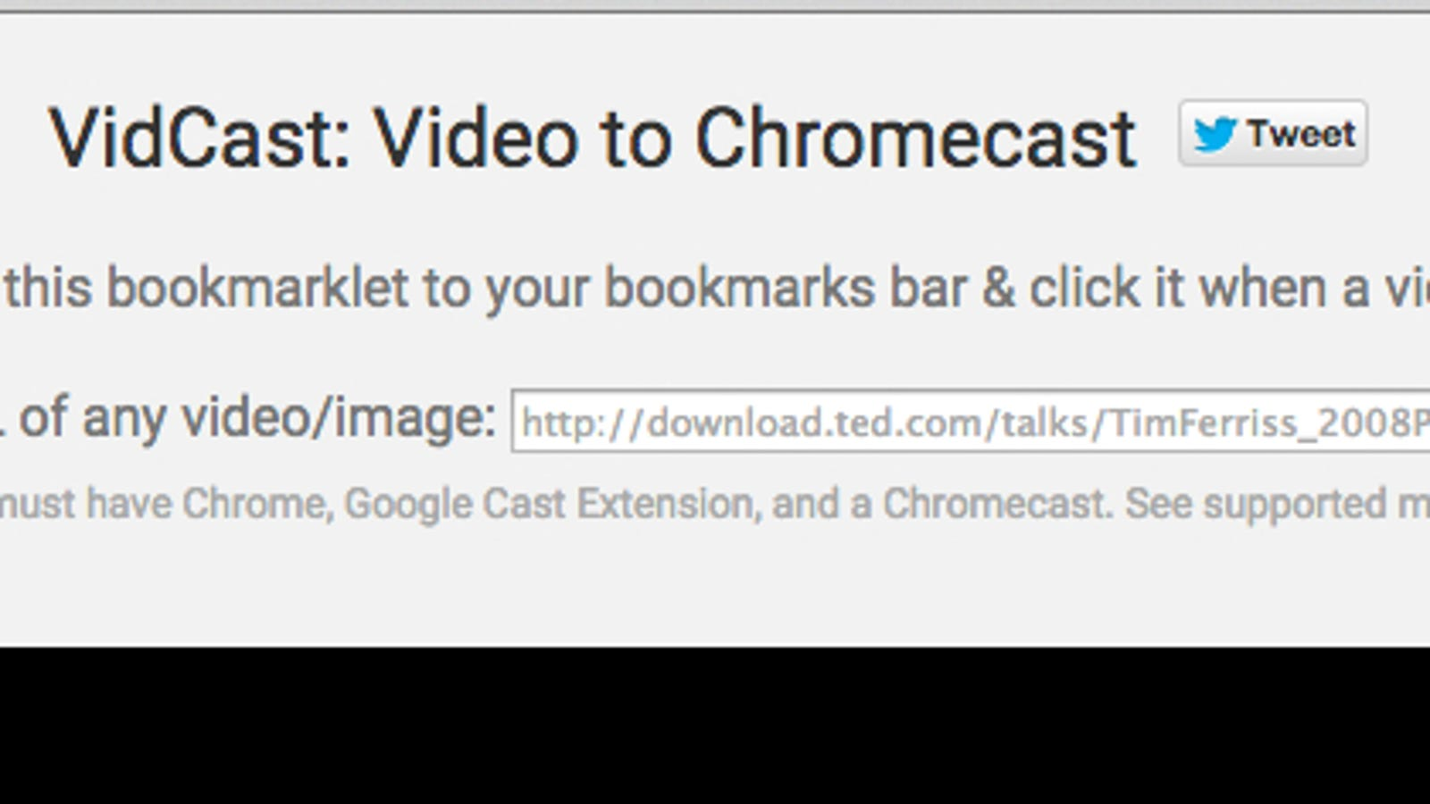 VidCast Streams Almost Any Web Video to Your Chromecast