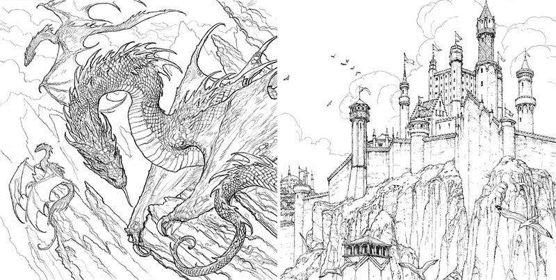 the official game of thrones coloring book really isnt for kids - Game Of Thrones Coloring Book