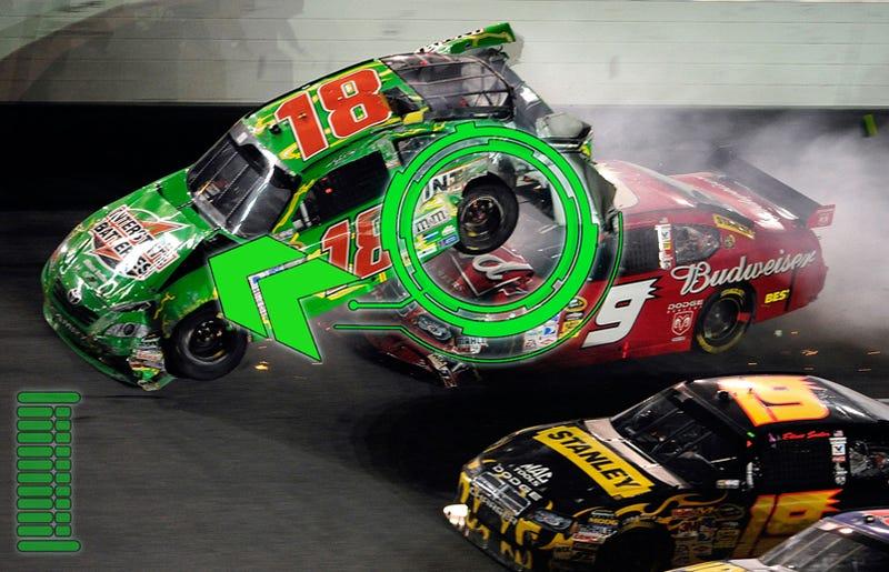 Illustration for article titled Anatomy Of A NASCAR Mega-Crash