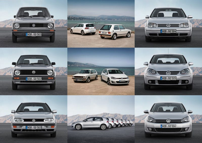 Illustration for article titled The Volkswagen Golf Is 40 Years Old Today