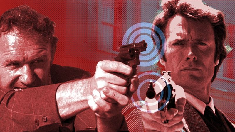 Dirty Harry and Popeye Doyle fight for the title of 1971's