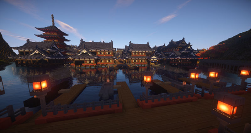ancient japan has never looked better in minecraft