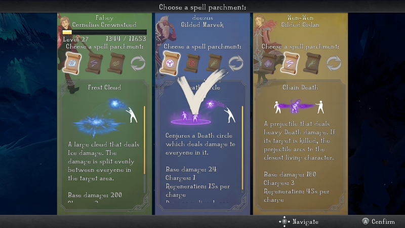 how to choose level in nine parchments