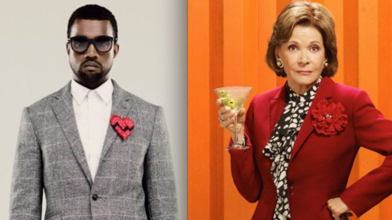 Illustration for article titled Entertainment Weekly asks: Kanye West lyric or Lucille Bluth quote?