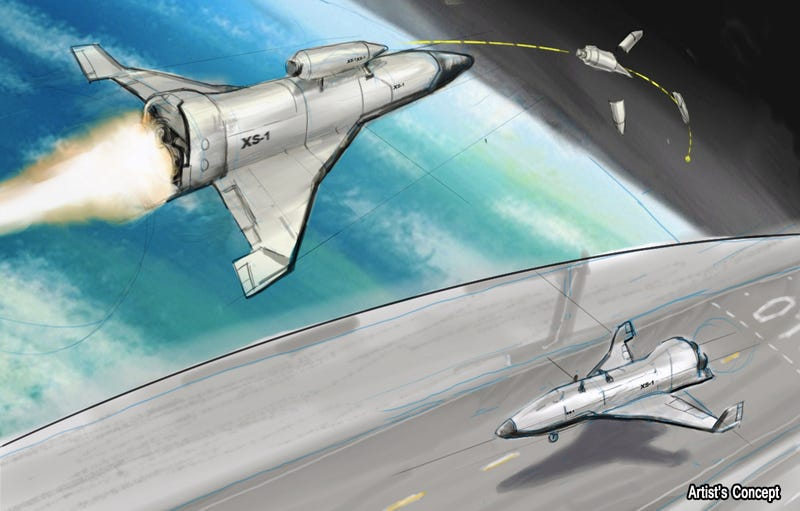 Illustration for article titled DARPA Wants a Spacejet That Makes Drones Look Like Paper Planes