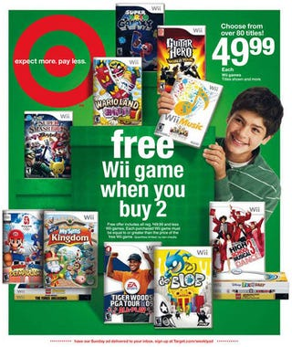 Illustration for article titled Buy Two Wii Games At Target, Get One Free