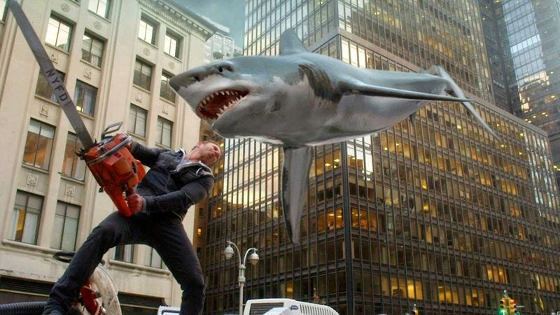 Illustration for article titled Syfy's Sharknado series proves schlock cinema belongs on TV, not in theaters