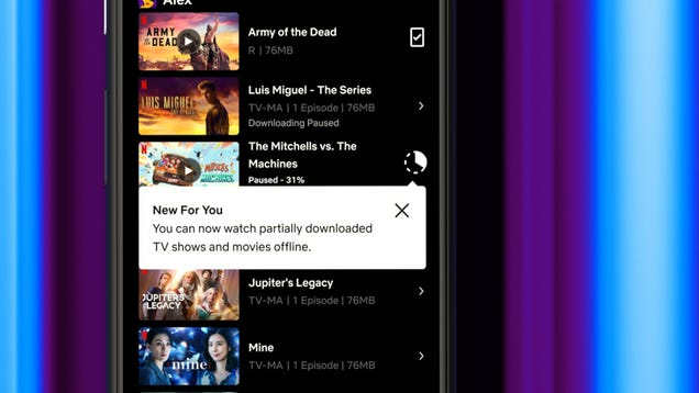 Netflix Will Let Android Users Stream Unfinished Downloads