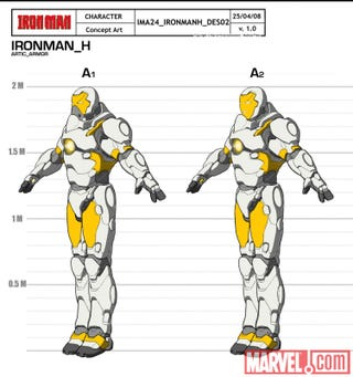 Illustration for article titled Iron Man Armors