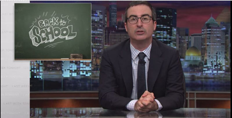 Illustration for article titled John Oliver Provides Helpful Back to School Rundown of Everything Students Won't Learn