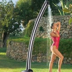 Solar Powered Heated Garden Shower