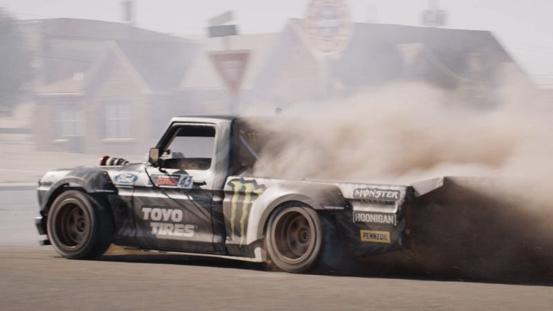 Illustration for article titled Ken Block Slays Tires In Four Cars And A Truck To Make Gymkhana 10 As Awesome As Ever