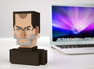 Illustration for article titled Fanboys, Time to Get Your Very Own 8-Bit Steve Jobs Bust