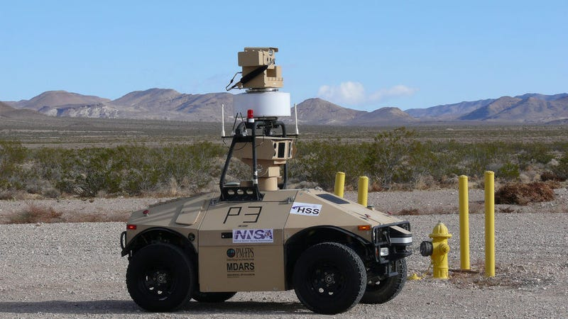 Illustration for article titled These Autonomous Patrol Cars Keep Watch Over Our Nuclear Stockpiles
