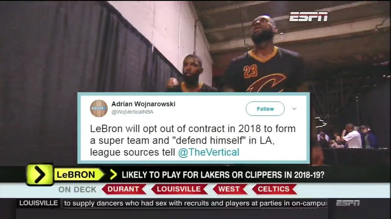 Illustration for article titled Around The Horn Spends Four Minutes Unknowingly Debating A Fake Woj Tweet [Update]