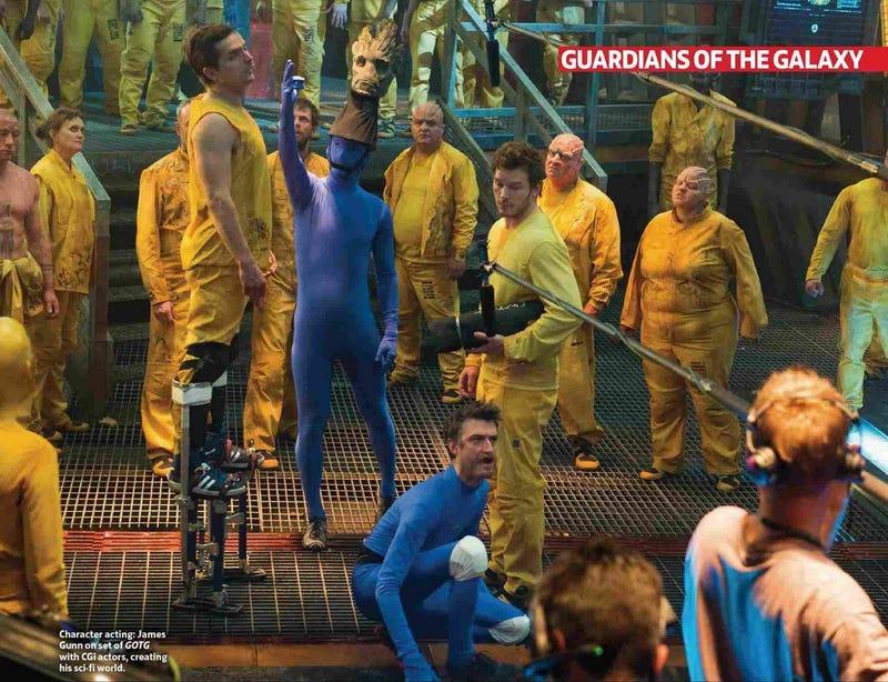 Illustration for article titled Así son Groot y Rocket, de Guardianes de la Galaxia, durante el rodaje