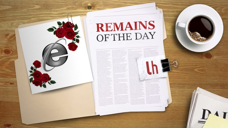 Illustration for article titled Remains of the Day: Internet Explorer Finally Retires