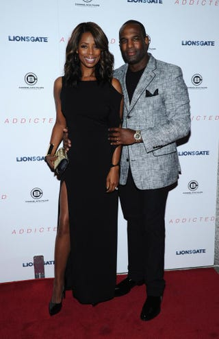 Tasha Smith and Keith Douglas attend the New York premiere of Addicted at Regal Union Square in New York City Oct. 8, 2014.Ilya S. Savenok/Getty Images