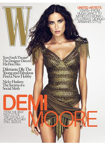 Illustration for article titled Was Demi Moore Photoshopped Onto Model's Body For W? Not Likely.