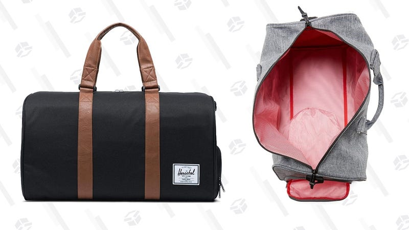 Herschel Supply Co. Novel Duffel Bag - Raven Crosshatch | $52 | AmazonHerschel Supply Co. Novel Duffel Bag - Black | $45 | Amazon