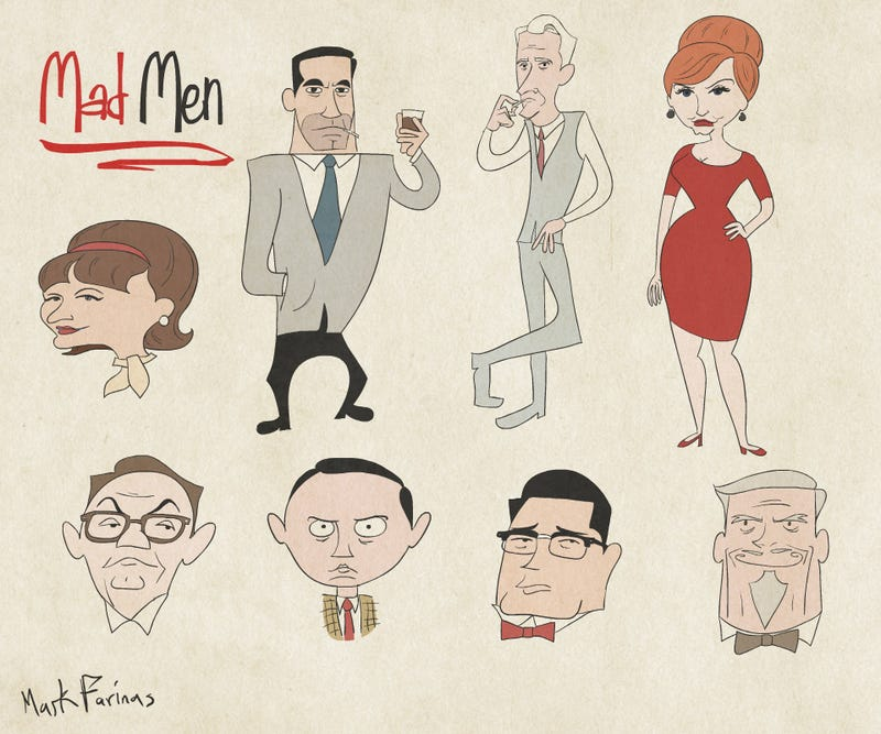Illustration for article titled Mad Men as UPA Style Cartoons