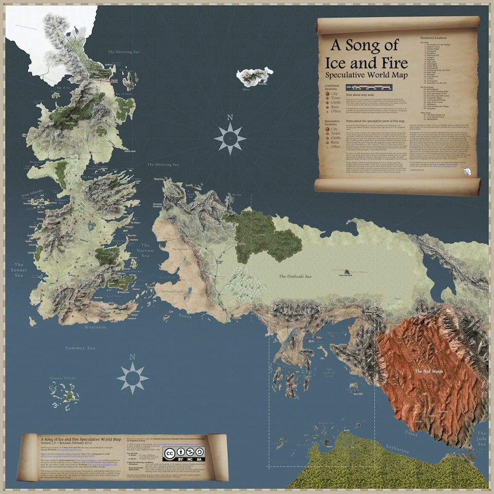 the most detailed map of the game of thrones world yet Map Of Game Of Thrones World Pdf Map Of Game Of Thrones World Pdf #3 map of game of thrones worlds