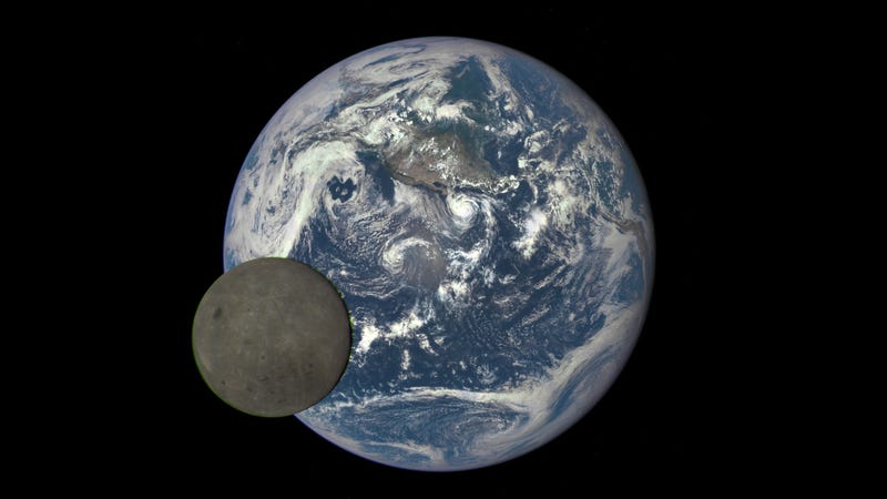 NASA's Deep Space Climate Observatory satellite took this shot of the far side of the moon in July 2015, at a distaince of 1 million miles from Earth.
