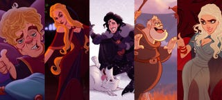 Illustration for article titled This is what Game of Thrones would look like if it were a Disney movie