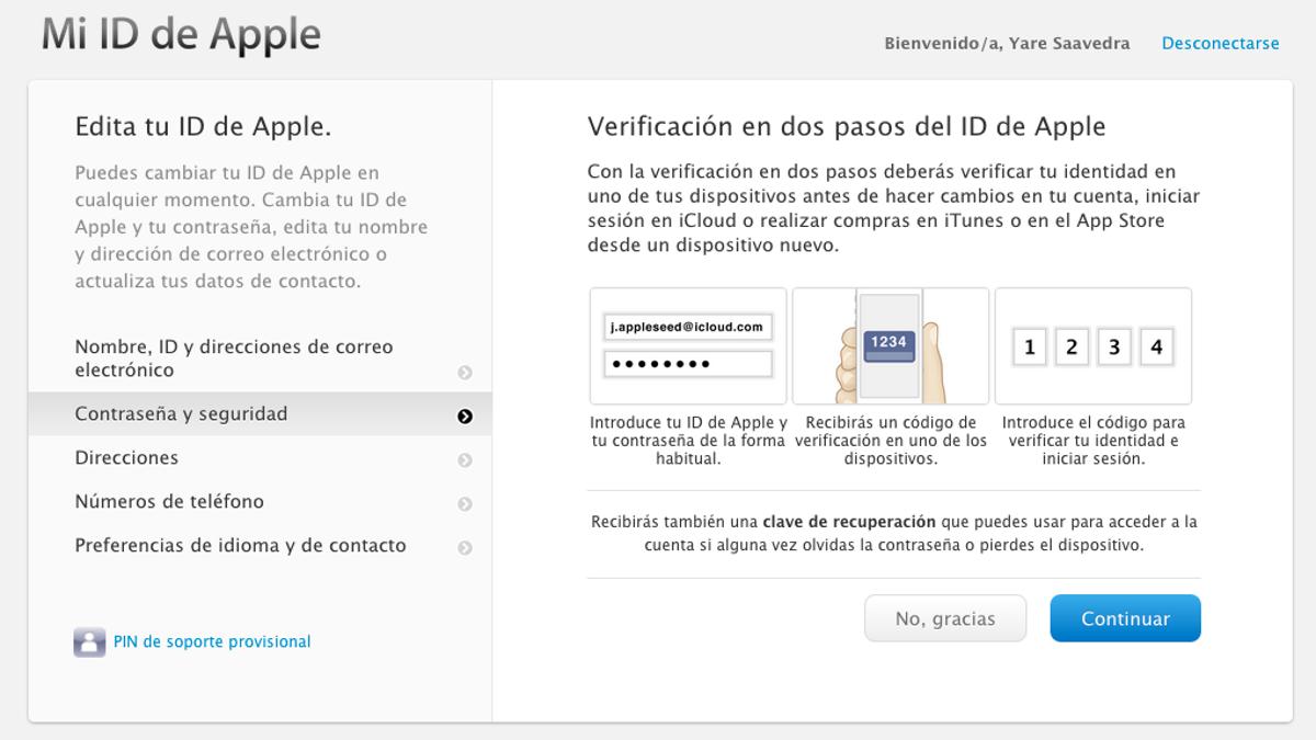 c8955544286 Cómo activar la verificación en dos pasos en servicios online
